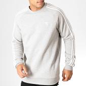 /achat-sweats-col-rond-crewneck/adidas-sweat-crewneck-3-stripes-ed6016-gris-chine-blanc-186690.html
