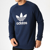 /achat-sweats-col-rond-crewneck/adidas-sweat-crewneck-trefoil-ed5948-bleu-marine-186692.html