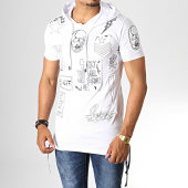 /achat-t-shirts-longs-oversize/ikao-tee-shirt-oversize-a-capuche-f537-blanc-noir-186664.html