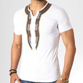 /achat-t-shirts/ikao-tee-shirt-f579-blanc-marron-noir-dore-186707.html