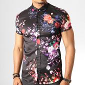 /achat-chemises-manches-courtes/ikao-chemise-manches-courtes-floral-f540-noir-186710.html