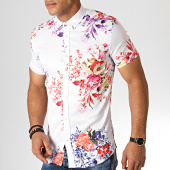 /achat-chemises-manches-courtes/ikao-chemise-manches-courtes-floral-f539-blanc-186711.html