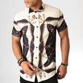 /achat-chemises-manches-courtes/ikao-chemise-manches-courtes-f570-beige-noir-186712.html