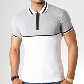 /achat-polos-manches-courtes/ikao-polo-manches-courtes-zippe-f499-blanc-gris-chine-186725.html