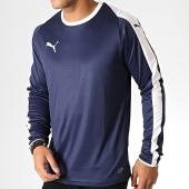 /achat-t-shirts-manches-longues/puma-tee-shirt-manches-longues-liga-jersey-703419-bleu-marine-blanc-186701.html