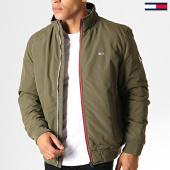 /achat-vestes/tommy-jeans-veste-zippee-essential-padded-6599-vert-kaki-186732.html
