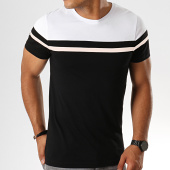 /achat-t-shirts/lbo-tee-shirt-tricolore-800-noir-rose-blanc-186805.html