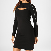 /achat-robes/puma-robe-femme-a-bandes-classics-595206-noir-blanc-186874.html
