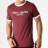 /achat-t-shirts/teddy-smith-tee-shirt-ticlass-3-bordeaux-blanc-186909.html