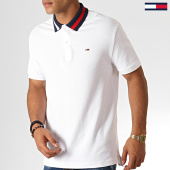 /achat-polos-manches-courtes/tommy-hilfiger-jeans-polo-manches-courtes-flag-neck-6576-blanc-bleu-marine-rouge-186830.html