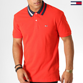 /achat-polos-manches-courtes/tommy-hilfiger-jeans-polo-manches-courtes-flag-neck-6576-rouge-bleu-marine-blanc-186831.html