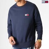 /achat-sweats-col-rond-crewneck/tommy-hilfiger-jeans-sweat-crewneck-badge-6592-bleu-marine-186833.html