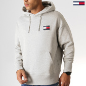 /achat-sweats-capuche/tommy-hilfiger-jeans-sweat-capuche-badge-6593-gris-chine-186834.html