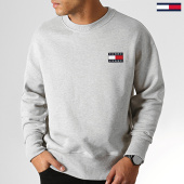 /achat-sweats-col-rond-crewneck/tommy-hilfiger-jeans-sweat-crewneck-badge-6592-gris-chine-186836.html