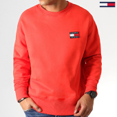 /achat-sweats-col-rond-crewneck/tommy-hilfiger-jeans-sweat-crewneck-badge-6592-rouge-186838.html
