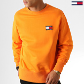 /achat-sweats-col-rond-crewneck/tommy-hilfiger-jeans-sweat-crewneck-badge-6592-orange-186839.html