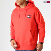 /achat-sweats-capuche/tommy-hilfiger-jeans-sweat-capuche-badge-6593-rouge-186842.html