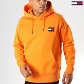 /achat-sweats-capuche/tommy-hilfiger-jeans-sweat-capuche-badge-6593-orange-186843.html