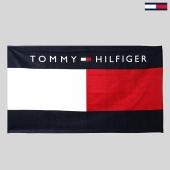 /achat-serviettes-peignoirs/tommy-hilfiger-serviette-de-plage-0018-blanc-bleu-marine-rouge-186866.html