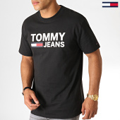 /achat-t-shirts/tommy-hilfiger-jeans-tee-shirt-classics-logo-4837-noir-186901.html