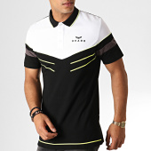 /achat-polos-manches-courtes/charo-polo-manches-courtes-smash-wy4777-blanc-noir-jaune-fluo-187041.html