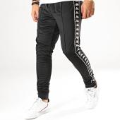/achat-pantalons-joggings/kappa-pantalon-jogging-a-bandes-rastoria-303kuc0-noir-blanc-187057.html