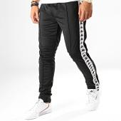 /achat-pantalons-joggings/kappa-pantalon-jogging-a-bandes-astoria-snaps-303kue0-noir-blanc-187059.html