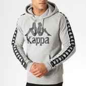 /achat-sweats-capuche/kappa-sweat-capuche-a-bandes-hurtado-303wh20-gris-chine-noir-blanc-187072.html
