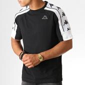 /achat-t-shirts/kappa-tee-shirt-a-bandes-arset-304i050-noir-blanc-187074.html
