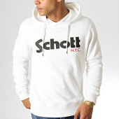 /achat-sweats-capuche/schott-nyc-sweat-capuche-logo-blanc-casse-187023.html