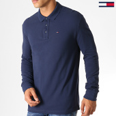 /achat-polos-manches-longues/tommy-hilfiger-jeans-polo-manches-longues-essential-5503-bleu-marine-186926.html