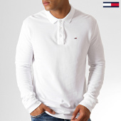 /achat-polos-manches-longues/tommy-hilfiger-jeans-polo-manches-longues-essential-5503-blanc-186927.html