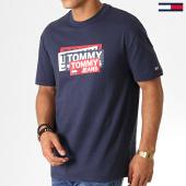 /achat-t-shirts/tommy-hilfiger-jeans-tee-shirt-multi-corp-logo-6498-bleu-marine-186934.html