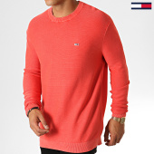 /achat-pulls/tommy-hilfiger-jeans-pull-washed-6534-corail-186951.html