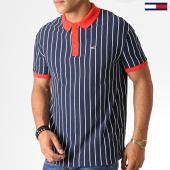 /achat-polos-manches-courtes/tommy-hilfiger-jeans-polo-manches-courtes-retro-stripe-6577-bleu-marine-rouge-blanc-186964.html
