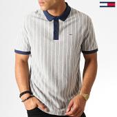 /achat-polos-manches-courtes/tommy-hilfiger-jeans-polo-manches-courtes-retro-stripe-6577-gris-chine-bleu-marine-blanc-186966.html