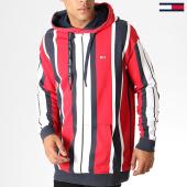 /achat-sweats-capuche/tommy-hilfiger-jeans-sweat-capuche-vertical-stripe-6585-rouge-blanc-gris-186967.html