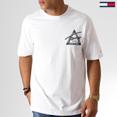 /achat-t-shirts/tommy-hilfiger-jeans-tee-shirt-washed-graphic-6598-blanc-186983.html