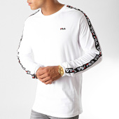 /achat-t-shirts-manches-longues/fila-tee-shirt-manches-longues-a-bandes-fabrice-687234-blanc-noir-rouge-187326.html