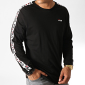 /achat-t-shirts-manches-longues/fila-tee-shirt-manches-longues-a-bandes-fabrice-687234-noir-blanc-rouge-187327.html