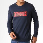 /achat-sweats-col-rond-crewneck/hugo-by-hugo-boss-sweat-crewneck-reverse-logo-dicago-194-50414126-bleu-marine-rouge-187316.html
