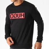 /achat-sweats-col-rond-crewneck/hugo-by-hugo-boss-sweat-crewneck-reverse-logo-dicago-194-50414126-noir-rouge-187317.html