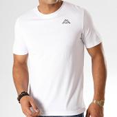 /achat-t-shirts/kappa-tee-shirt-logo-cafers-304j150-blanc-187333.html