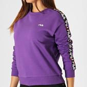 /achat-sweats-col-rond-crewneck/fila-sweat-crewneck-femme-a-bandes-tivka-682326-violet-187320.html