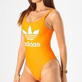 /achat-maillots-de-bain/adidas--maillot-de-bain-une-piece-femme-trefoil-ed7470-orange-blanc-187354.html