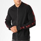 /achat-vestes/hugo-by-hugo-boss-veste-zippee-a-bandes-reverse-logo-dalkutta-50414143-noir-rouge-187337.html