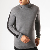/achat-pulls/brave-soul-pull-col-roule-a-bandes-matson-gris-chine-187523.html