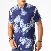 /achat-chemises-manches-courtes/frilivin-chemise-manches-courtes-floral-bm1043m-bleu-marine-blanc-187423.html