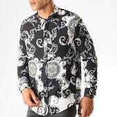 /achat-chemises-manches-longues/frilivin-chemise-manches-longues-renaissance-7530-noir-blanc-gris-187424.html