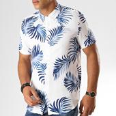 /achat-chemises-manches-courtes/frilivin-chemise-manches-courtes-floral-bm1043m-blanc-bleu-187426.html